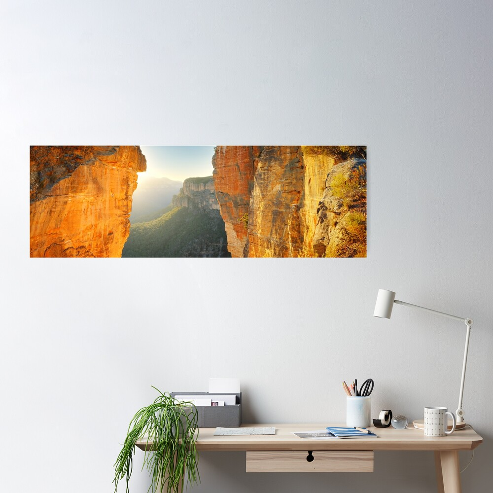 Between Cliffs, Blue Mountains, New South Wales, Australia Poster