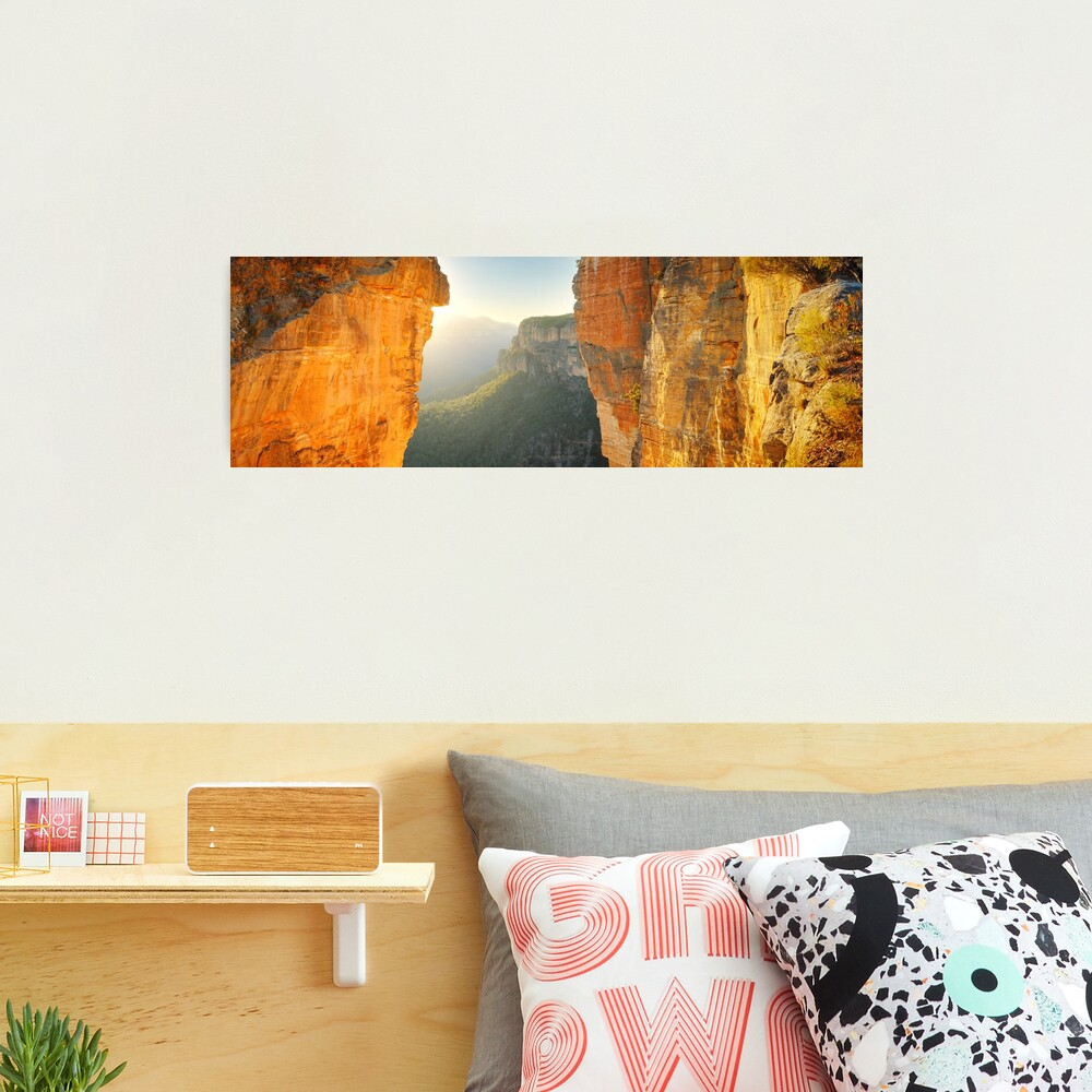 Between Cliffs, Blue Mountains, New South Wales, Australia Photographic Print