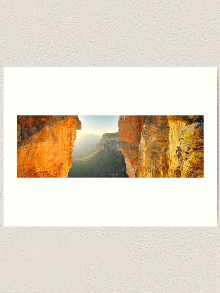 Alternate view of Between Cliffs, Blue Mountains, New South Wales, Australia Art Print