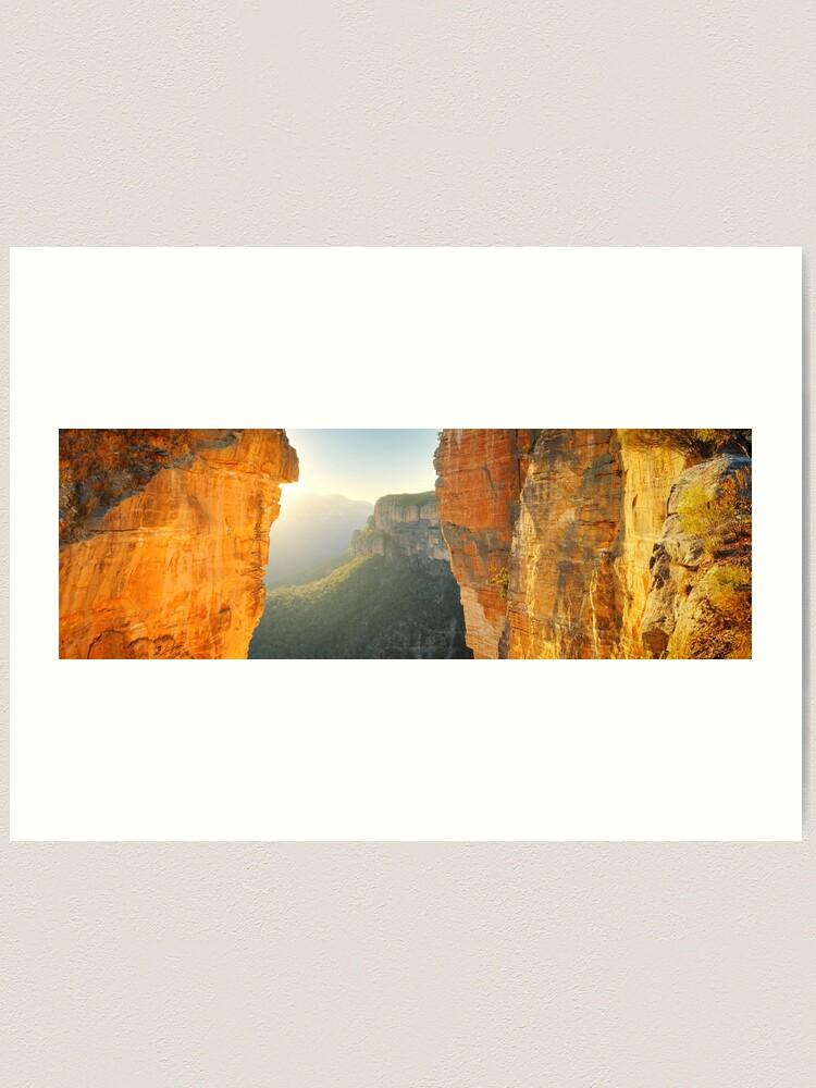 Alternate view of Between Cliffs, Blue Mountains, New South Wales, Australia Art Print