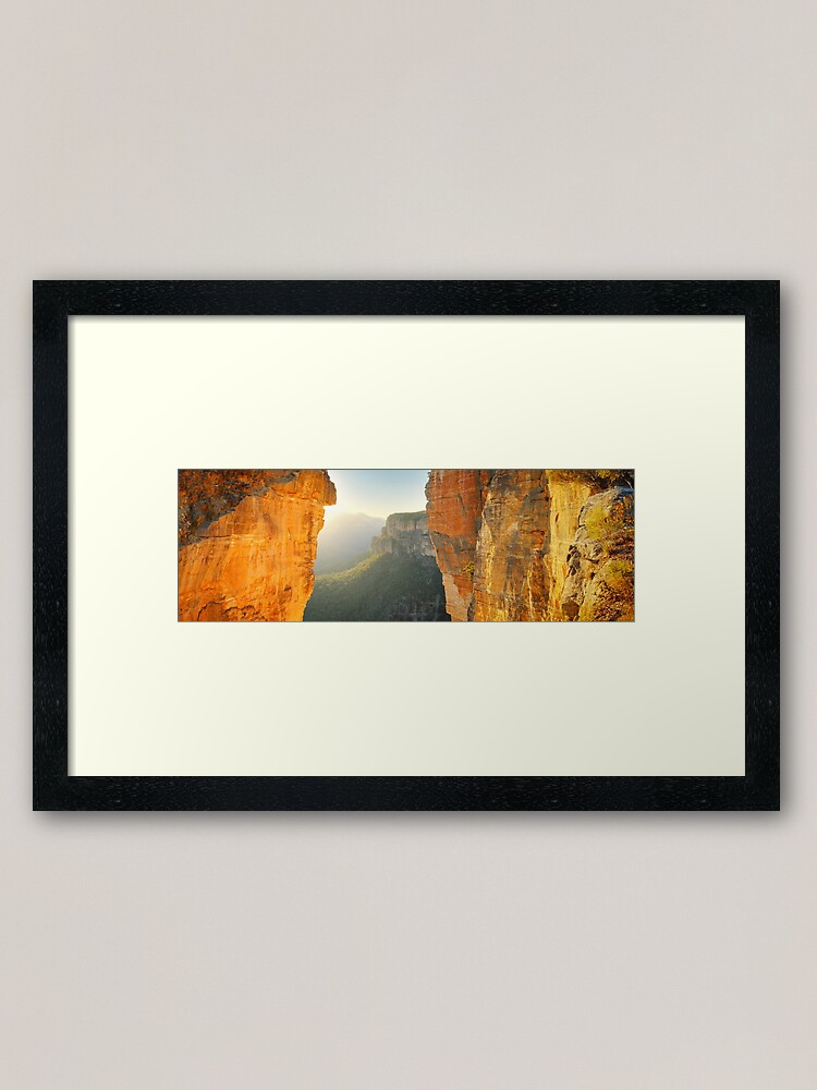 Alternate view of Between Cliffs, Blue Mountains, New South Wales, Australia Framed Art Print