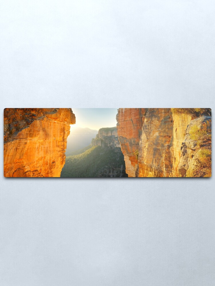 Alternate view of Between Cliffs, Blue Mountains, New South Wales, Australia Metal Print