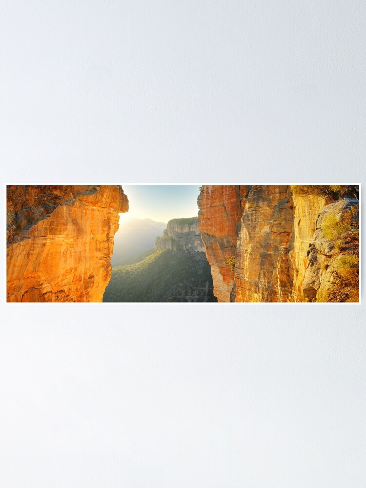 Alternate view of Between Cliffs, Blue Mountains, New South Wales, Australia Poster