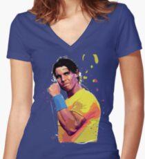 Rafa Nadal Women's Fitted V-Neck T-Shirt