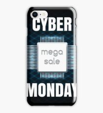Cyber Monday sale banner template iPhone Case/Skin