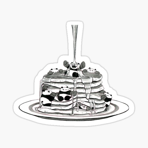 Pancake Pandas Sticker