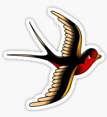 American Traditional Swallow III Sticker