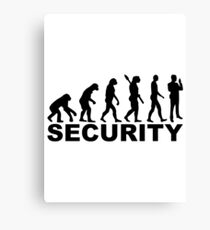 Evolution security Canvas Print