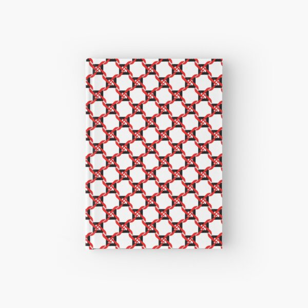 Red Black White Pinwheel Geoemetric Hardcover Journal