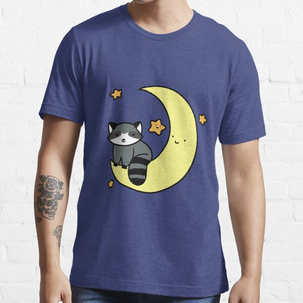 Crescent Moon Raccoon Essential T-Shirt