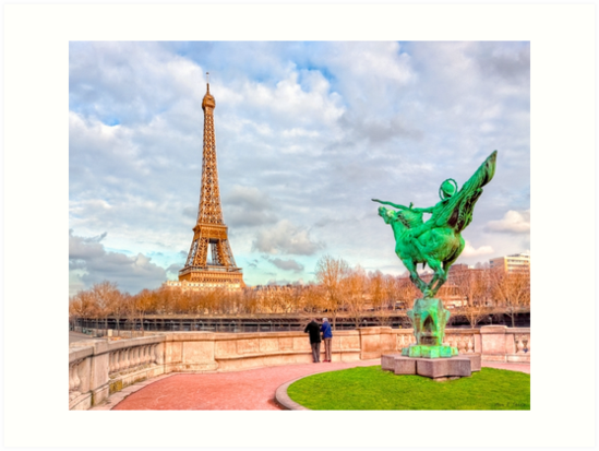 Tilting at Windmills - France Reborn & The Eiffel Tower by Mark Tisdale