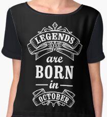 Legends Born in october Women's Chiffon Top