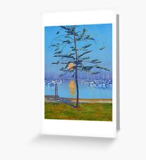 Manly Harbour Moonrise Greeting Card