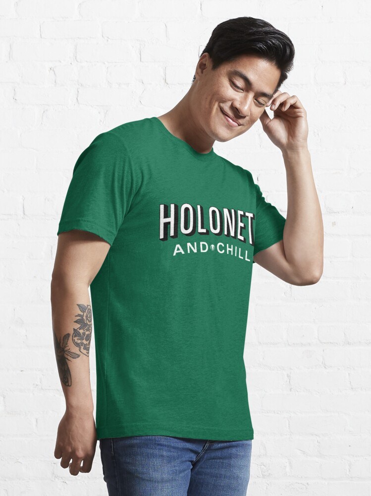 Alternate view of Holonet and Chill Essential T-Shirt