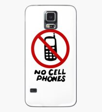 No Cell Phones Case/Skin for Samsung Galaxy