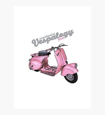 Pink Vespa Photographic Print