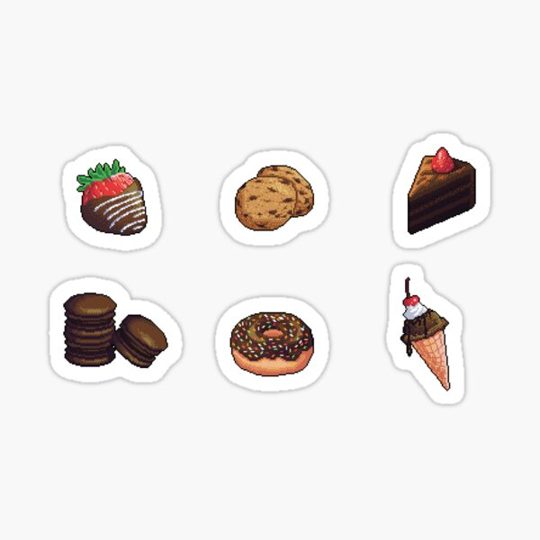Chocolate Dessert Pixel Art Sticker