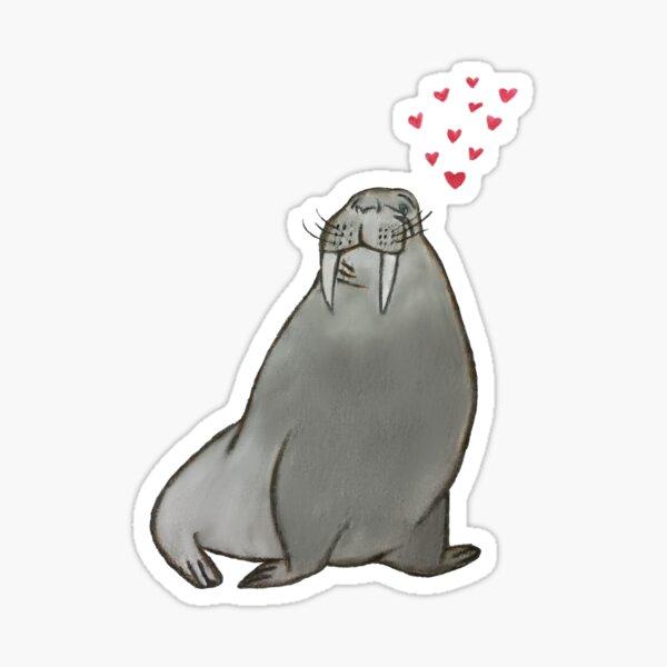 Walrus Love Sticker