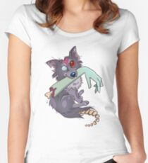 Rufus zombie dog Women's Fitted Scoop T-Shirt