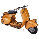 Orange Vespa by 73553