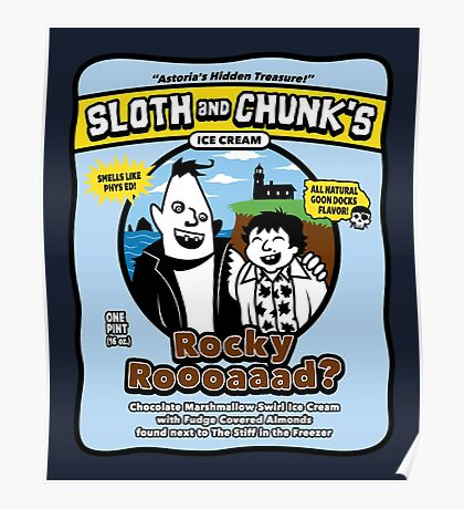 Sloth and Chunk's Ice Cream Poster