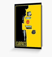 Carface Greeting Card