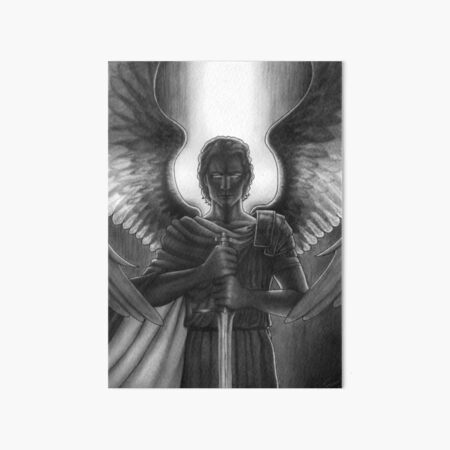 St Michael the Arch Angel - Patron Saint of Military Personnel - Friar Illustrations Art Board Print