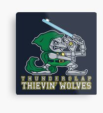 Thunderclap Thievin' Wolves Metal Print