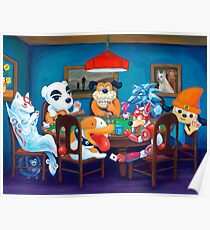 Video Game Dogs Playing Poker Poster