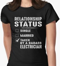 Relationship Status Taken By A Badass Electrician Womens Fitted T-Shirt