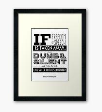 Dumb and Silent Framed Print