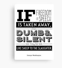 Dumb and Silent Canvas Print