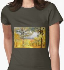 Mountain Morning Womens Fitted T-Shirt