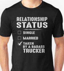 ff93257ca Relationship Status Taken By A Badass Trucker Slim Fit T-Shirt