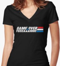 Game Over Yeah! Women's Fitted V-Neck T-Shirt