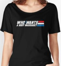 Who Wants a Body Massage? Women's Relaxed Fit T-Shirt