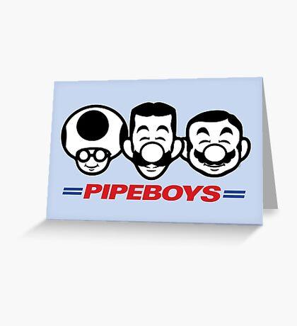 Pipe Boys Greeting Card