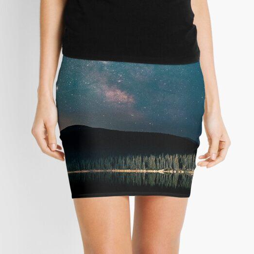 Body Of Water Under Starry Night Mini Skirt