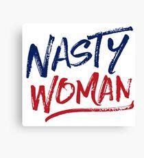 Nasty Woman - Patriotic Canvas Print