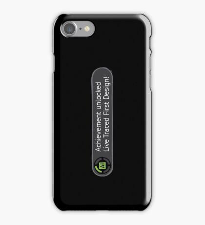 Achievement Live Traced! iPhone Case/Skin