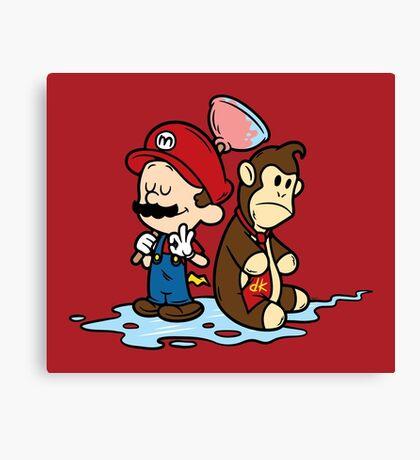 Mario and Kong Canvas Print