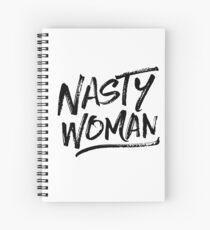 Nasty Woman - Black Spiral Notebook