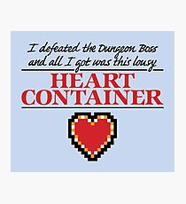 Lousy Heart Container Photographic Print