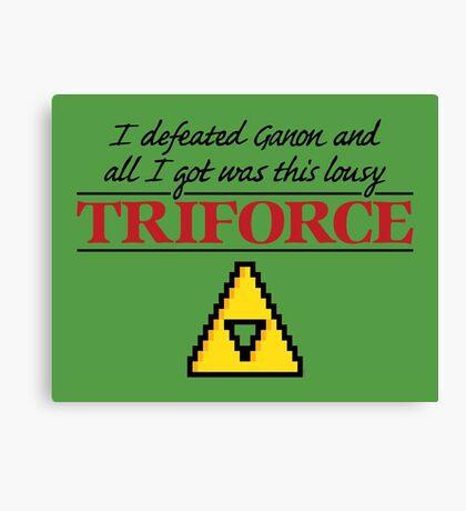 Lousy Triforce Canvas Print