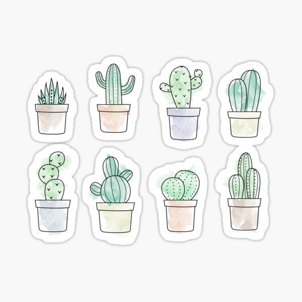 Autocollants de cactus Sticker