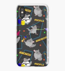 NinChilla Nunchucks In Ash Grey iPhone Case/Skin
