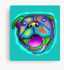 acrylic happy pit bull Canvas Print