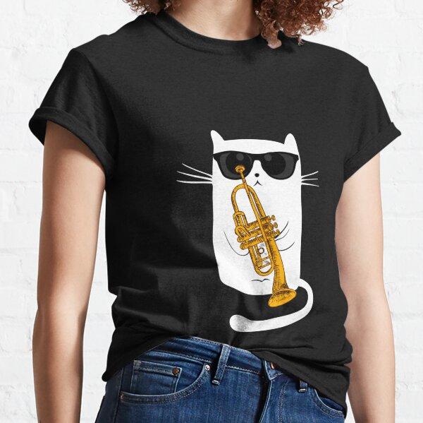 Jazz Cat Live Tonight - Cool Smooth Trumpet Playing Design T-Shirt Classic T-Shirt