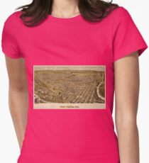 Vintage Pictorial Map of Fort Worth TX (1891) Womens Fitted T-Shirt