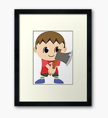 Chibi Animal Crossing Villager Vector Framed Print